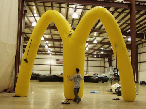Custom Advertising Balloons McD Arch