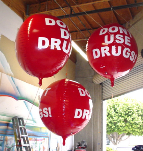 Helium Balloons anti drugs spheres