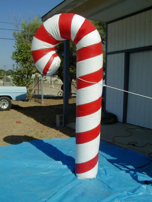 Holiday Inflatables candy cane