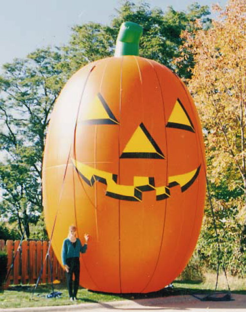 Holiday Inflatables skinny pumpkin