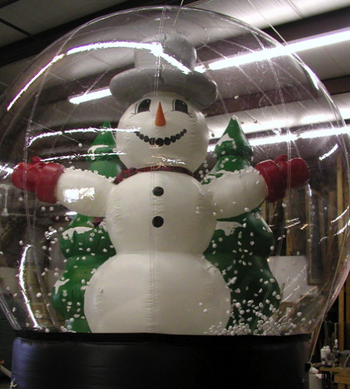 Holiday Inflatables snow globe