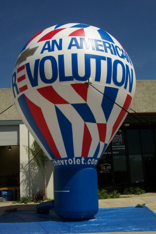 Hot Air Balloon Shaped Inflatables chevy revolution custom hab