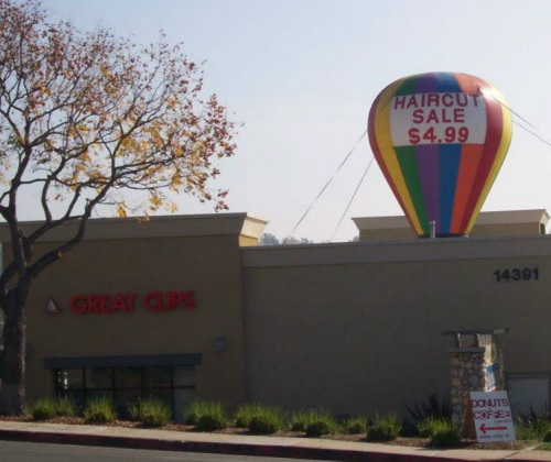 Hot Air Balloon Shaped Inflatables great clips 25' hab