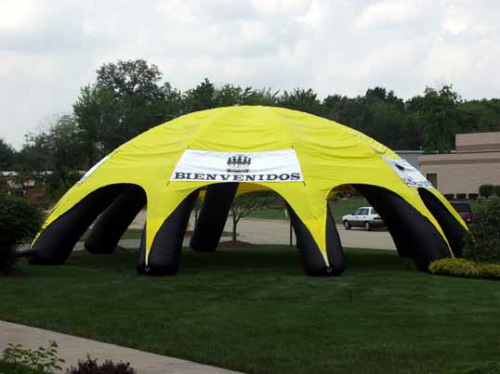 Inflatable Buildings and Tents black & yellow tent