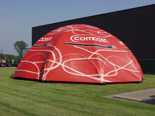 Inflatable Buildings and Tents comcast enclosed tent