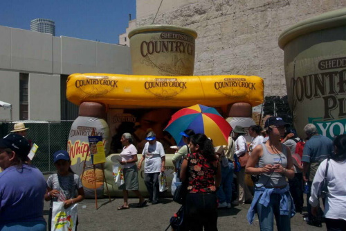 Inflatable Buildings and Tents country crock sampling booth