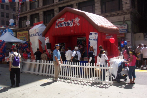 Inflatable Buildings and Tents lactaid sampling booth