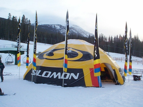 Inflatable Buildings and Tents salomon tent in snow