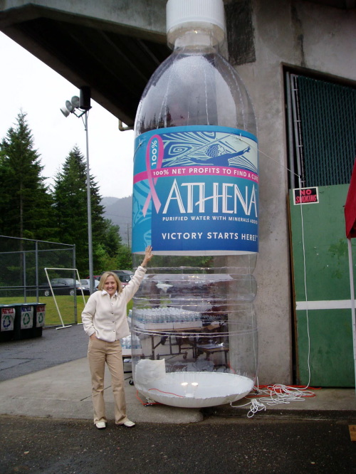 Inflatable Cans and Bottles 15' athena clear