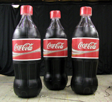 Inflatable Cans and Bottles 10' Coke Bottles