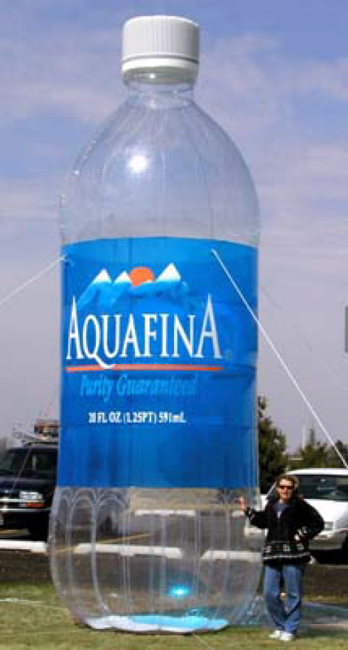 Inflatable Cans and Bottles aquafina - 20'