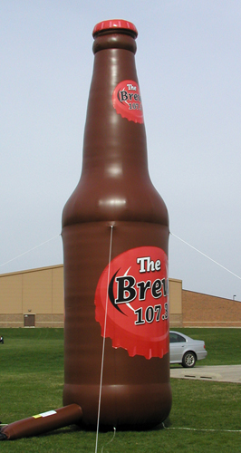 Inflatable Cans and Bottles 25' Brew 107FM Bottle