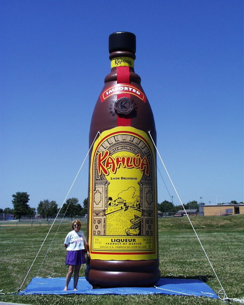 Inflatable Cans and Bottles kahlua 20'