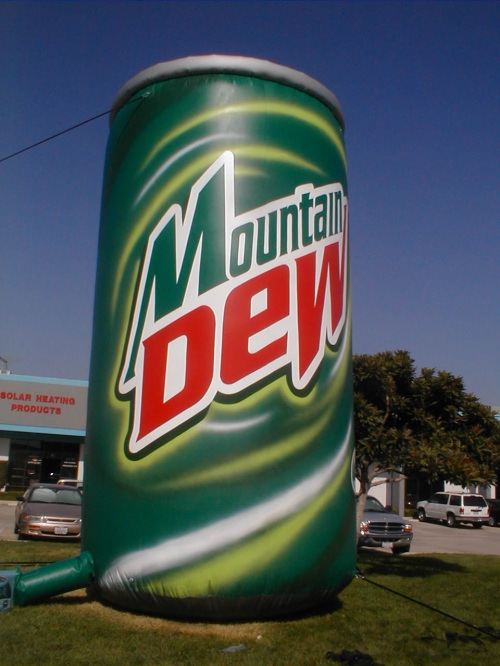 Inflatable Cans and Bottles mountain dew 20'