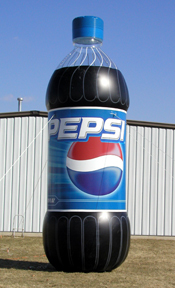 Inflatable Cans and Bottles 20' Pepsi Bottle