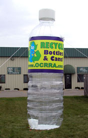 Inflatable Cans and Bottles 15' Recycle Water Bottle