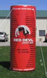 Inflatable Cans and Bottles 10' Red Devil Enery Drink