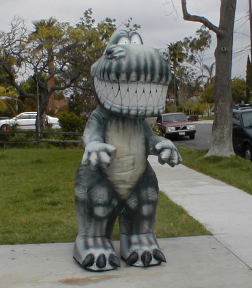 Inflatable Costumes t-rex caricature costume