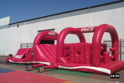 Inflatable Interactive Games coca cola obstacle course