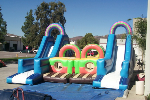 Inflatable Interactive Games double obstacle course