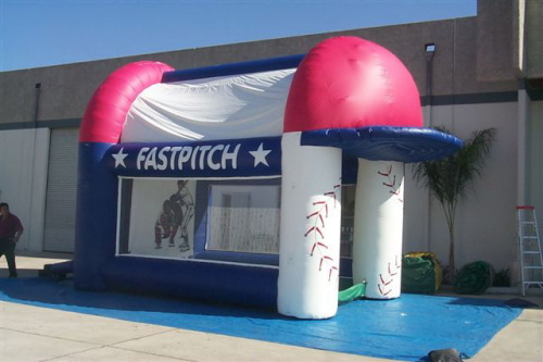 Inflatable Interactive Games fast pitch game