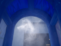 Inflatable Interactive Games INSIDE Misting Tunel