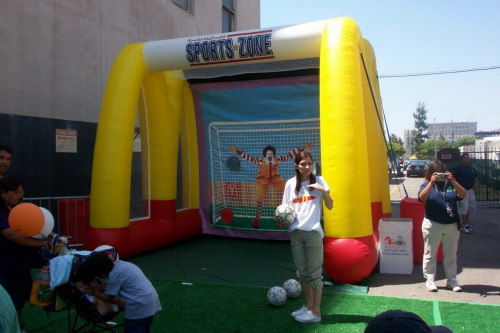 Inflatable Interactive Games mcdonald's basketball game