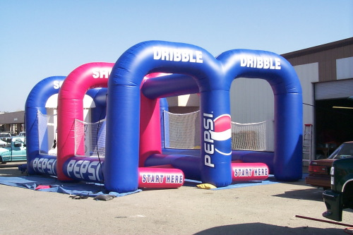 Inflatable Interactive Games pepsi dribble and shoot