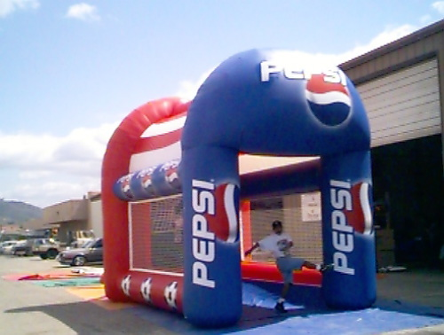 Inflatable Interactive Games pepsi sports pen