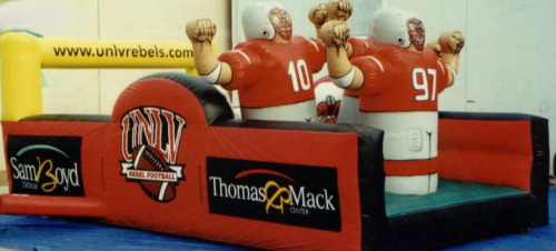 Inflatable Interactive Games unlv 4th & goal 3