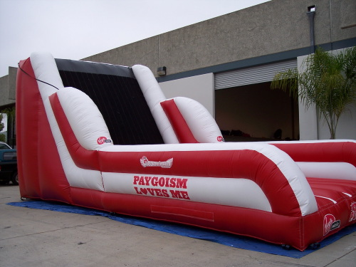 Inflatable Interactive Games virgin mobile velcro wall