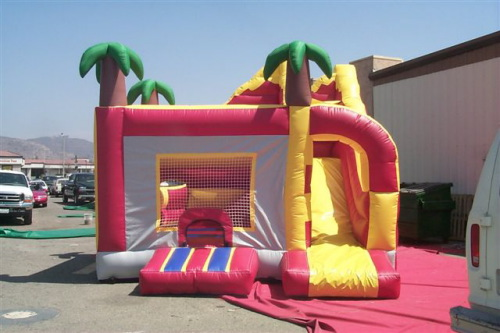 Inflatable Interactive Games volcano slide jump