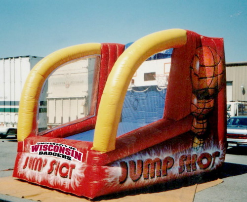 Inflatable Interactive Games wisconsin jump shot!