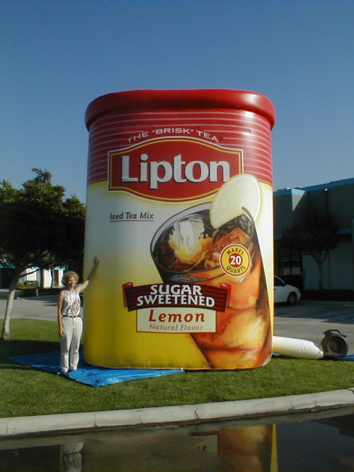 Inflatable Product Replicas 20' lipton box