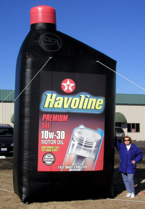 Inflatable Product Replicas havoline oil bottle -16'