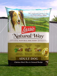 Inflatable Product Replicas Lassie Dog Food Bag 15'