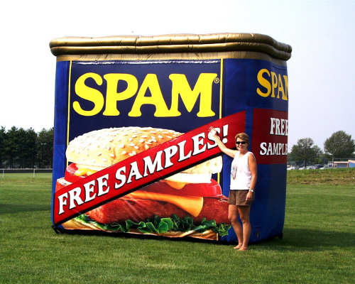 Inflatable Product Replicas spam-can