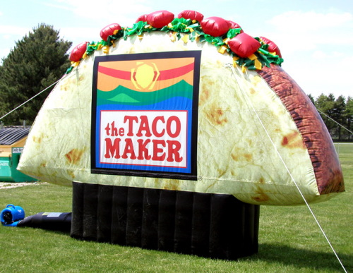 Inflatable Product Replicas taco maker taco
