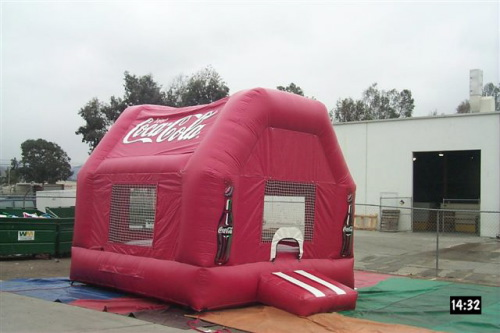 Kid's Jumps & Bounce Houses coca-cola bounce house