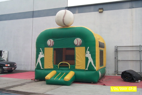Kid's Jumps & Bounce Houses green yellow baseball bounce