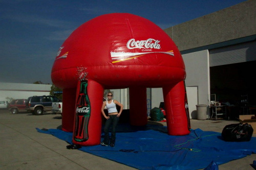 Miscellaneous Inflatables coke misting booth