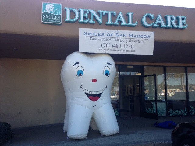 Our Recent Creations Inflatable Tooth