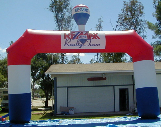 Our Recent Creations ReMax Arch with Hot Air Balloon