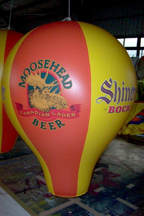 Point of Purchase Balloons moosehead sealed pop