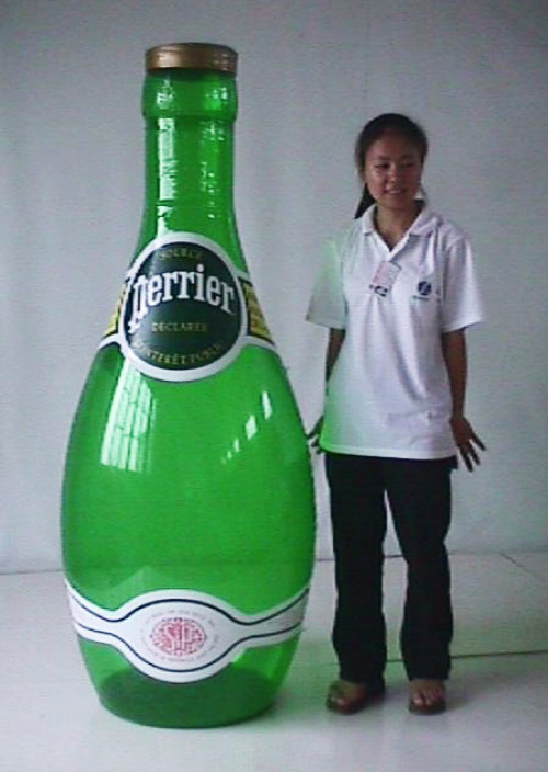 Point of Purchase Balloons sealed perrier bottle
