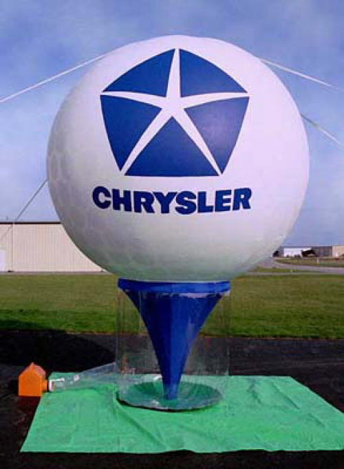 Sports Related Inflatables chrysler golf ball