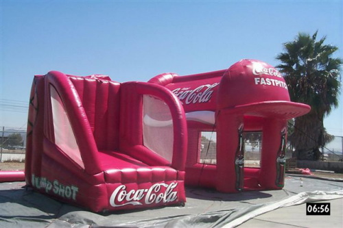 Sports Related Inflatables coca cola jump shot