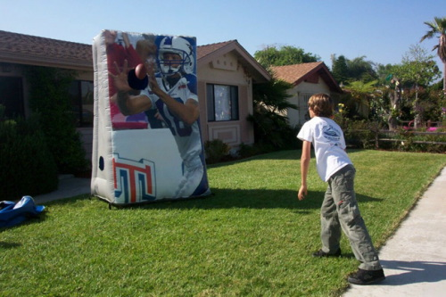 Sports Related Inflatables football toss ryan throwing