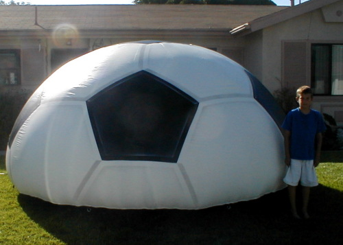 Sports Related Inflatables half soccer ball